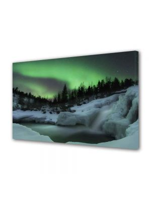 Tablou VarioView MoonLight Fosforescent Luminos in intuneric Peisaje Aurora Boreala