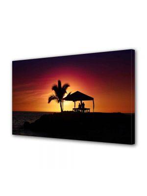 Tablou Canvas Peisaj Palmier la apus