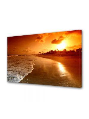 Tablou Canvas Peisaj Plaja la apus