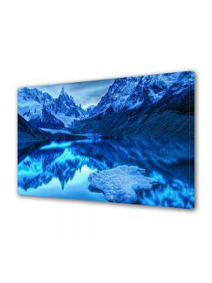 Tablou Canvas Luminos in intuneric VarioView LED Peisaj Albastru in oglinda