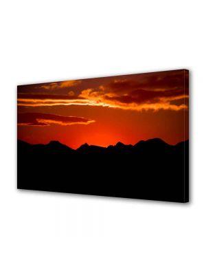 Tablou Canvas Peisaj Rosu si negru