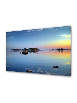 Tablou Canvas Peisaj Stanci pe lac