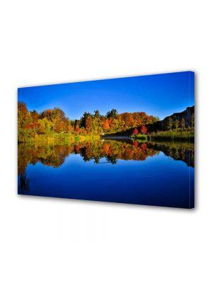 Tablou Canvas Peisaj Albastru inchis al lacului