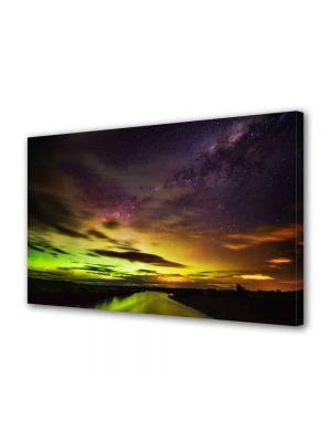 Tablou Canvas Luminos in intuneric VarioView LED Peisaj Apus in nord