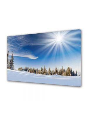 Tablou Canvas Luminos in intuneric VarioView LED Peisaj Soare cu dinti