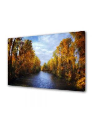 Tablou Canvas Peisaj Canal de toamna