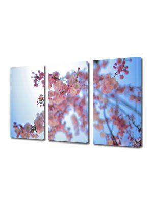 Set Tablouri Multicanvas 3 Piese Peisaj Crenguta roz