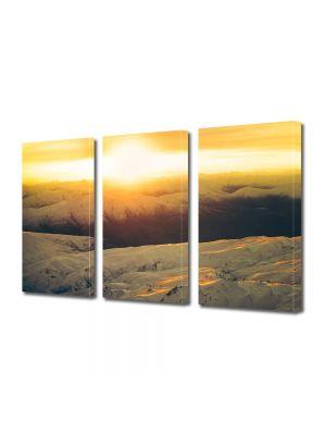 Set Tablouri Multicanvas 3 Piese Peisaj Zapada si apus