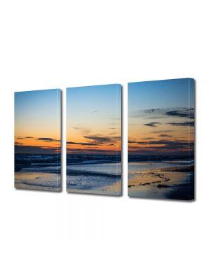 Set Tablouri Multicanvas 3 Piese Peisaj Plaja pustie