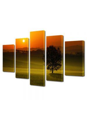 Set Tablouri Multicanvas 5 Piese Peisaj Privind apusul