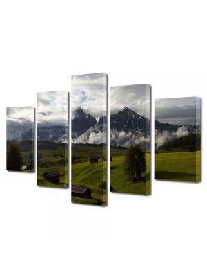Set Tablouri Canvas 5 Piese Peisaj Se pregateste sa ploua