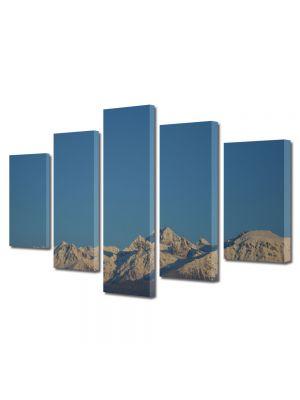 Set Tablouri Canvas 5 Piese Peisaj Cer si munti