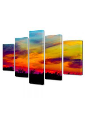 Set Tablouri Canvas 5 Piese Peisaj Culorile apusului