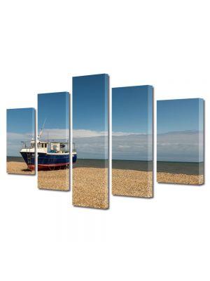 Set Tablouri Canvas 5 Piese Peisaj Barca esuata