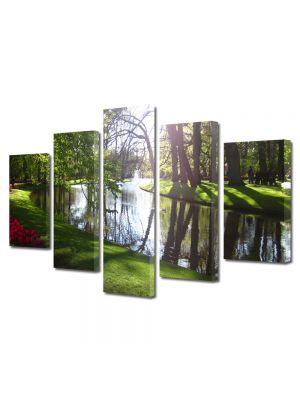 Set Tablouri Canvas 5 Piese Peisaj Luciul apei
