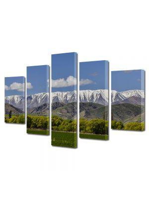 Set Tablouri Canvas 5 Piese Peisaj Creasta muntilor