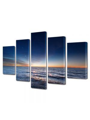 Set Tablouri Canvas 5 Piese Peisaj Degrade