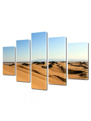 Set Tablouri Canvas 5 Piese Peisaj Dune in desert