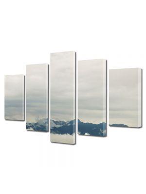 Set Tablouri Canvas 5 Piese Peisaj Creste peste nori