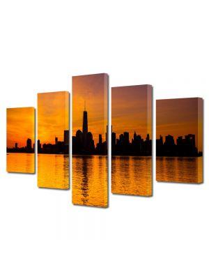 Set Tablouri Canvas 5 Piese Peisaj New York