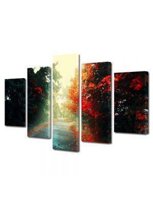 Set Tablouri Canvas 5 Piese Peisaj Printre copaci