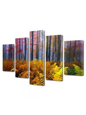 Set Tablouri Multicanvas 5 Piese Peisaj Veriga in padure