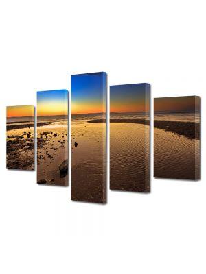 Set Tablouri Multicanvas 5 Piese Peisaj Plaja imensa