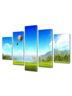 Set Tablouri Multicanvas 5 Piese Peisaj Balon