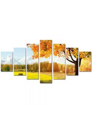 Set Tablouri Multicanvas 7 Piese Peisaj Toamna pe campie