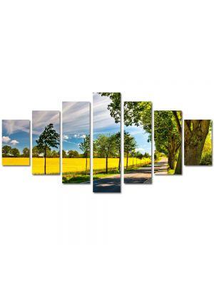 Set Tablouri Multicanvas 7 Piese Peisaj Drum umbrit