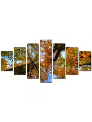 Set Tablouri Multicanvas 7 Piese Peisaj Doi copaci de jos