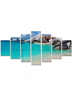 Set Tablouri Multicanvas 7 Piese Peisaj Apa limpede