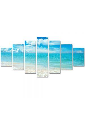 Set Tablouri Multicanvas 7 Piese Peisaj Baie in mare