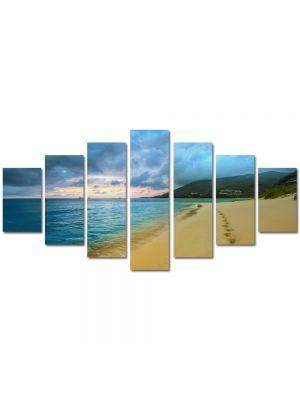 Set Tablouri Multicanvas 7 Piese Peisaj Urme de pasi