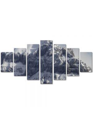 Set Tablouri Multicanvas 7 Piese Peisaj Creste de munti