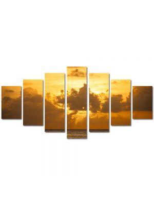 Set Tablouri Multicanvas 7 Piese Peisaj Soare dupa nori