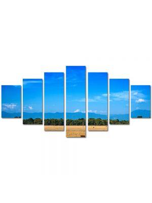 Set Tablouri Multicanvas 7 Piese Peisaj Maro si albastru
