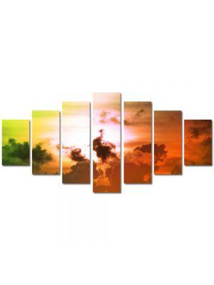 Set Tablouri Multicanvas 7 Piese Peisaj Culori fantastice pe cer