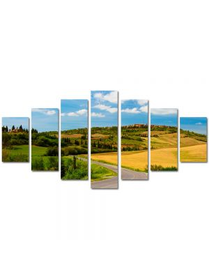 Set Tablouri Multicanvas 7 Piese Peisaj Drum national