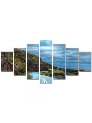 Set Tablouri Multicanvas 7 Piese Peisaj Drum serpuit