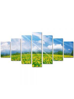 Set Tablouri Multicanvas 7 Piese Peisaj Rase pe campie