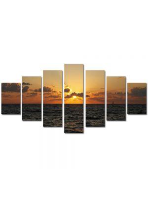 Set Tablouri Multicanvas 7 Piese Peisaj Aproape noapte