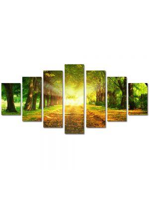 Set Tablouri Multicanvas 7 Piese Peisaj Lumini fantastice