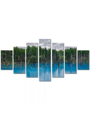 Set Tablouri Multicanvas 7 Piese Peisaj Bleu