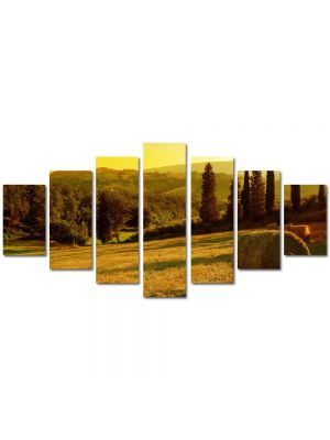 Set Tablouri Multicanvas 7 Piese Peisaj Baloti de fan