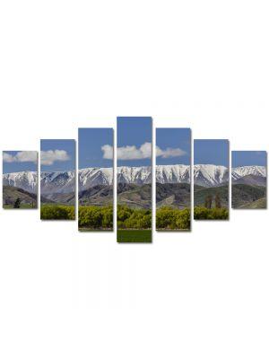 Set Tablouri Multicanvas 7 Piese Peisaj Creasta muntilor