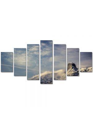 Set Tablouri Multicanvas 7 Piese Peisaj Nori la poalele muntilor
