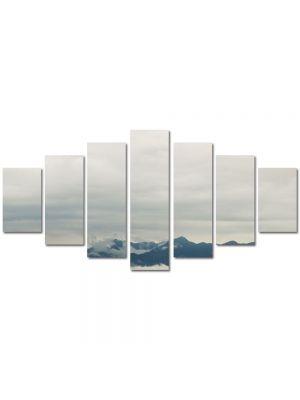 Set Tablouri Multicanvas 7 Piese Peisaj Creste peste nori