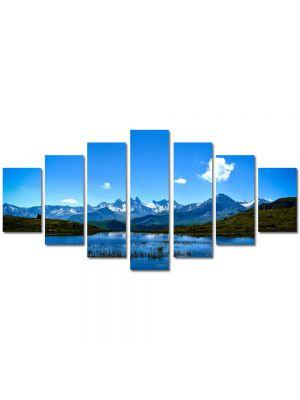 Set Tablouri Multicanvas 7 Piese Peisaj Nor singuratic
