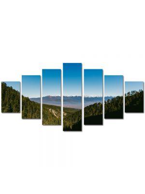 Set Tablouri Multicanvas 7 Piese Peisaj Brazi peste dealuri